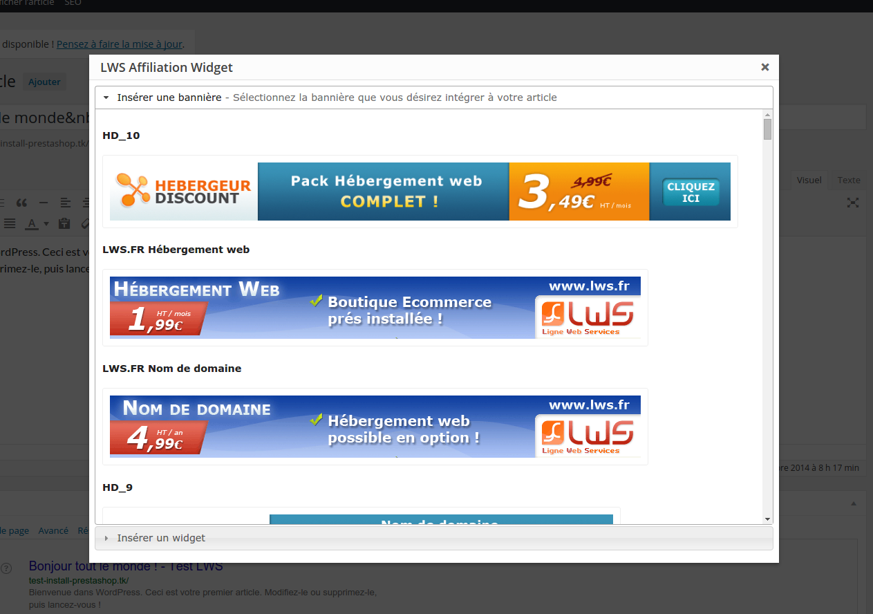 Comment installer et utiliser le plugin Wordpress Affiliation