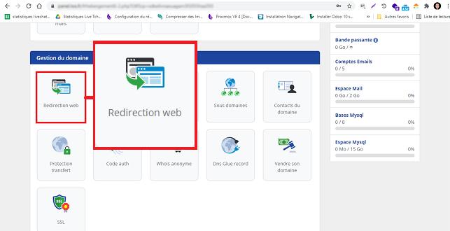 Redirection web